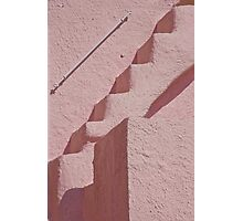 Pink Stairs And Facade Photographic Print