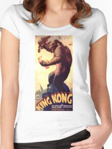 King Kong movie poster Women's Fitted Scoop T-Shirt