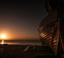 Fishing Boat at Sunrise by Chester Tugwell