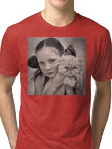 A Girl and her Cat Tri-blend T-Shirt