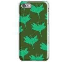 Forest Flower Dark Green iPhone Case/Skin