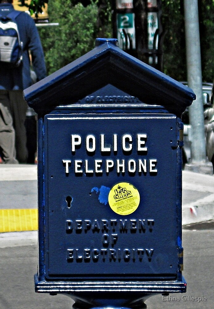 Police Telephone  by Ethna Gillespie