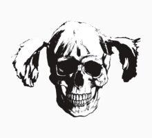 Pigtail Skull Kids Tee