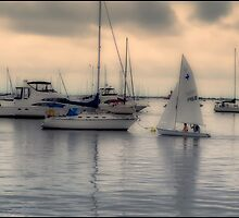 Sailboats Port Jefferson Harbor by smoothstones