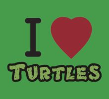 I LOVE TURTLES (T-Shirt & Sticker) by PopCultFanatics