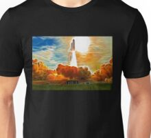 Abstract Shuttle Columbia Launch Unisex T-Shirt