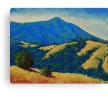 Tamalpais With Golden Hills Canvas Print