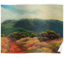 Fog Over Barnabe Mountain Poster