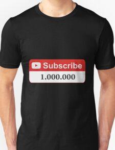 YouTube 1 Million Subscribers Unisex T-Shirt
