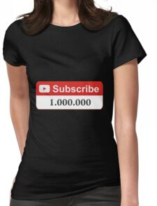 YouTube 1 Million Subscribers Womens Fitted T-Shirt