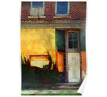 Sunlight Catching Yellow Wall Poster