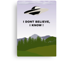 I Dont Believe, I Know !  Canvas Print