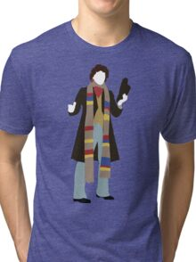 The Fourth Doctor - Doctor Who - Tom Baker Tri-blend T-Shirt