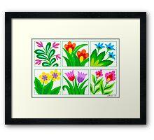 FLOWERS GALLERY Framed Print