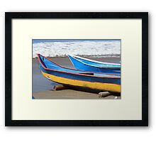 Two Wooden Fishing Boats Framed Print