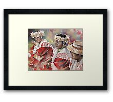 Three Mamas from Tahiti Framed Print