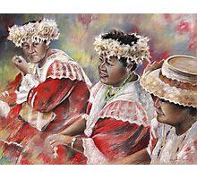Three Mamas from Tahiti Photographic Print
