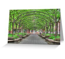 Sanctuary in the City HDR Cincinnati Ohio garden photography Greeting Card