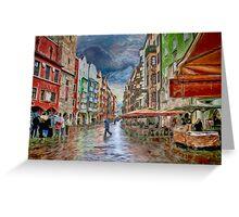 Innsbruck Street Scene Greeting Card