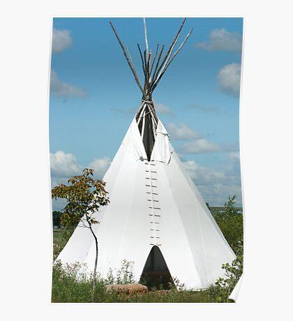 Teepee in the Prairies Poster