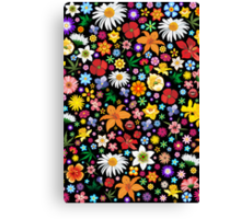 Spring Flowers Pattern Canvas Print