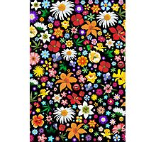 Spring Flowers Pattern Photographic Print