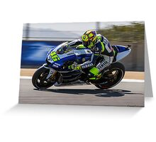 Valentino Rossi at laguna seca 2013 Greeting Card