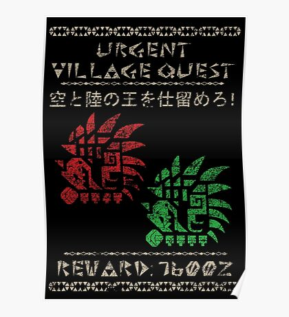 Monster Hunter Required - Rathalos and Rathian Poster
