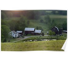 Tiny Farm tilt shift photography miniaturized farm photography Poster