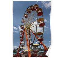 ferris wheel at fair Poster