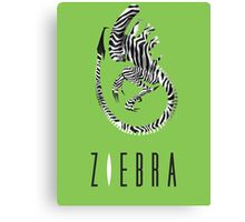 This is not ZEBRA. Giger Alien movie humour. Canvas Print