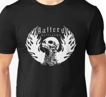 Gallery Billiards Skull Logo White Unisex T-Shirt
