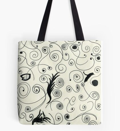 Squiggle Pen & Ink Tote Bag