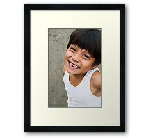 Smile- Today's Gonna Be Okay Framed Print