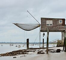 Carrelets in Port des Barques, Charente Maritime, France, atlantic coast by 7horses