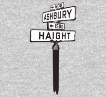 Ashbury Hayght Sign in San Francisco by MuralDecal