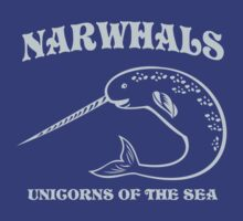 Narwhals. Unicorns of the Sea by contoured