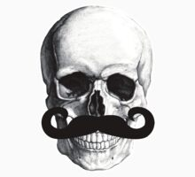 Skull With Mustache One Piece - Long Sleeve