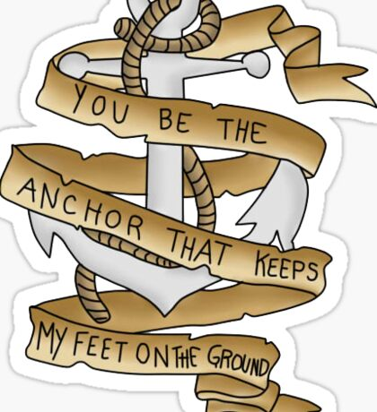 Mayday Parade Anchor (Colored)  Sticker