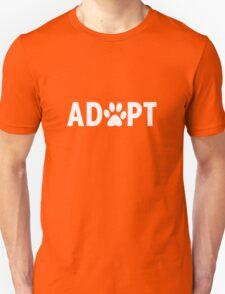 Adopt. Dog Paw Print T-Shirt