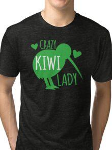CRAZY kiwi lady Tri-blend T-Shirt