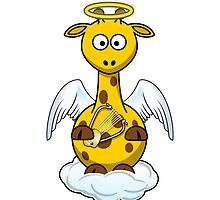 Angel Giraffe Cartoon by kwg2200