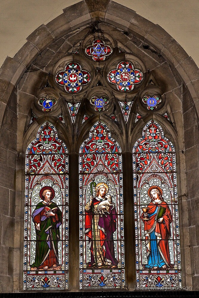 Stained Glass @ Stonegrave Church by John (Mike)  Dobson