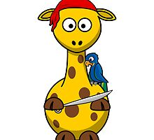 Pirate Giraffe Cartoon by kwg2200