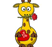 Valentine Giraffe Cartoon by kwg2200