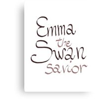 Emma Swan - The Savior Canvas Print