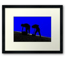 digging for gold Framed Print