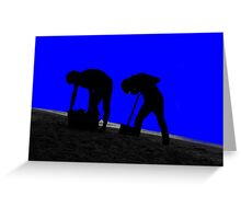 digging for gold Greeting Card