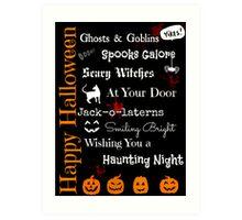 Halloween Poem Art Print