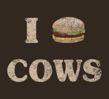 I Love Cows Hamburger by contoured